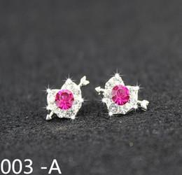 Wholesale Sweet clover Korea earth Bridal Jewelry New Sterling Silver earrings earrings earrings simple temperament female small jewelry bag mail