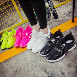 2016 Limited Real White Europe 2017 Korean Spring Summer Shoes Candy Fluorescent Color Casual Breathable Thick Bottom Net Number hot sale