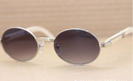 Promotion meilleures lunettes de soleil gros Meilleures ventes Lunettes de soleil White Buffalo 7550178 Lunettes de soleil plus grandes Rond Taille: 57-22-135mm 4 couleurs avec étui original