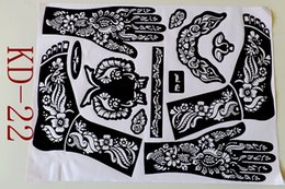 Wholesale pc Tattoo Templates hands feet tattoo stencils for airbrushing professional mehndi new Body Painting Kit supplies