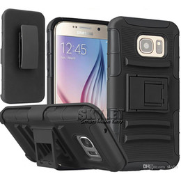 Wholesale Skylet Armor Case For iPhone Galaxy S7 Impact Hybrid Kickstand Case Degree Rotating Clip Combo Kickstand Case With OPP Package