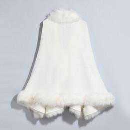 Solid Wool Pashmina Feeling Arcylic Faux Fur Jacquard Cape Poncho Cardigan Knitting Lady Shawl Stole Wraps Sweater Wool Collar Coat