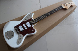 Hot Sale Factory Custom White Electric Guitar with Basswood Body,Red Pearl Pickguard,Can be Customized