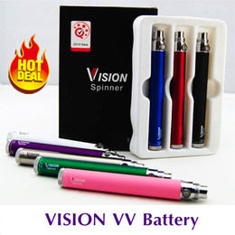 Top Vision spinner 650 900 1100 1300mAh Ego twist 3.3~4.8V variable voltage VV vape pen 510 battery for Electronic cigarettes ego atomizer