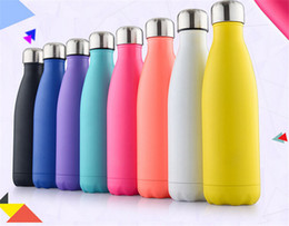 Wholesale 11 Colors Vacuum Cup Coke bottle ML which enable creative stainless steel vacuum keep warm glass cup Can be customized logo