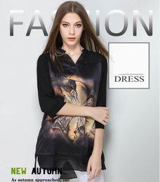PT116 flower printed t shirt women long sleeve mesh sexy plus size high quality