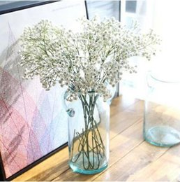 Wholesale inch length hand feeling coating whilte Gypsophila silk flowers artificial flowers for home wedding party decoration