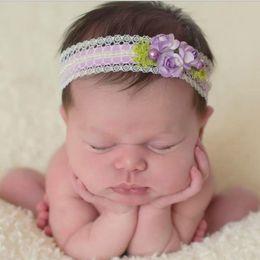 Baby Headbands Flowers Girls Kids Elastic Lace Pearl Headbands Newborn Kids Photography Hairbands Children Hair Accessories for Baby