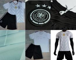 Wholesale 2017 Season Thai version German Home outfit White Black German Home soccer jerseys Size S XL Mix Order Good quality