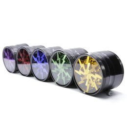 Wholesale New Tobacco Smoking Herb Grinders mm Aluminium Alloy Grinders With Clear Top Window Lighting Grinder colors Layers Cigarette Grinder