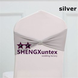 Silver Spandex Chair Band For Wedding Chair Cover