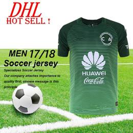 Descuento camisetas de fútbol de color rosa Jerseys del fútbol del club América de DHL-2017 LIGA MX 100 años caseros lejos Verde Centenario Verde 17/18 SAMBUEZA P.AGUILAR camiseta del fútbol