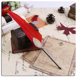 Wholesale Antique goose feather business gift pen buy get free