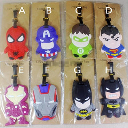 Lage Tags Mickey Minnie Cartoon Pikachu Star Wars Checked Travel Silicone Lage BatmanTags Pokeball Figures Suitcase Checked Tag