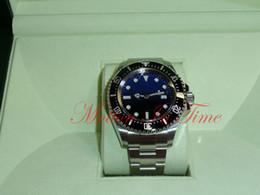 Wr s en Línea-Relojes de lujo hombre relojes de moda al por mayor D-Blue Para James Cameron StainlessSteel 44mm 116660 Reloj de hombres mecánicos Automatic Wr