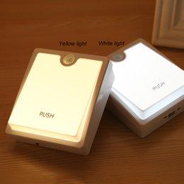 Creative Human Body Sensing Light USB Charging Feeding Lamp Promise Polishing Night Light Rechargeable Bedside Lamp Home Cabinet Light