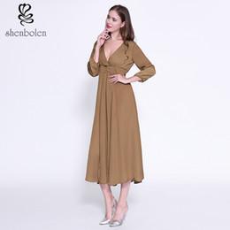 Shenbolen 2017 summer new design Sexy comfortable dress for women Cotton hollow out summer dress free package mail
