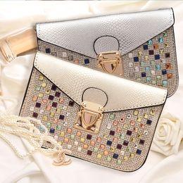 Chain bag women s handbag à vendre-Mini sacs à bandoulière Sac à main en diamant Crystal Girl Mini Embrayage en cuir avec chaîne Sac à main Crossbody Best Mini CCQ589
