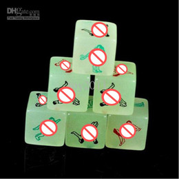 Free Shipping 20pcs Lot Sex Dice,Sex Toys,Adult Toys-Luminous appeal dice Love the dic