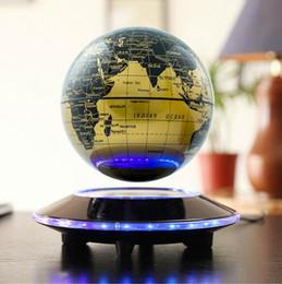 2016 flotteurs électroniques 6 pouces Creative électronique magnétique levitation flottante Globe World Map avec LED Lights festival d'anniversaire de bureau de décoration Business Gift abordable flotteurs électroniques