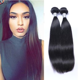 2Bundles 100g pcs Straight Brazilian Virgin Hair Weave Cheap Remy Brazilian Human Hair Extensions Dyeable Soft Full Double Weft