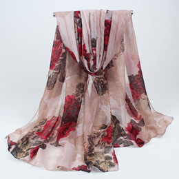Wholesale bandanas scarves Ethnic Spanish Scarf with Print180x90cm long autumn winter Ladies shawl foulard women BLS021