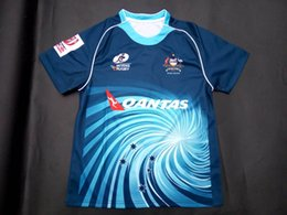 Wholesale Free ship NRL National Rugby League NRL Australian Sevens jersey High temperature heat transfer printing jersey Road navy color W