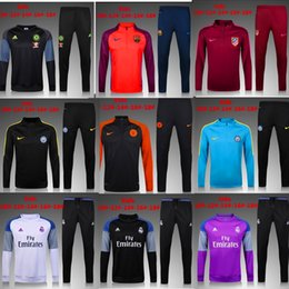 Wholesale 3a2016 real madrid kidsTracksuits top quality Training suit BENZEMA JAMES BALE kids juve Atletico Madrid Chelsea football Tracksuits