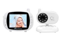 3.5 inch Color Video 2.4GHz Wireless Baby Monitor 2 Way talk Night IR Vision Camera With Temperature Monitoring