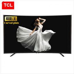 2016 tv lcd 55 TCL 55 pouces Le roi du film incurvé plaque Gamme haute couleur Huit nucléaire androïde intelligent LED TV LCD FULL HD 1920 * 1080P TV de la mode tv lcd 55 promotion