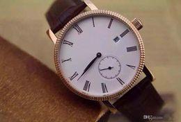Wholesale best suplier for Brand watch men calatrava watch automatic black white dial leather band Watch Men dress Watches PP12