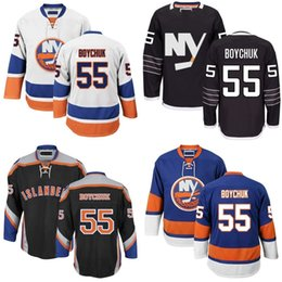 2016 New Cheap New York Islanders Mens 55 Johnny Boychuk High quality hot sale Black Blue White Ice Hockey Jersey size S-3XL
