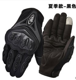 Wholesale Outdoor Sports full finger knight riding motorbike Motorcycle Gloves D Breathable Mesh Fabric men Leather Locomotive Glove
