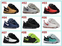 2017 Hot Sale KD 9 Chaussures de basket-ball pour homme KD9 Oreo Loup gris Kevin Durant 9s Sports pour hommes Sports Sneakers Warriors Accueil US Taille 7-12 à partir de kd chaussures hommes taille 12 fabricateur