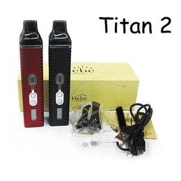 Compra Online Pluma vaporizador de hierbas-Nuevo Titan 2 kit de vaporizador Hebe seco hierba E cigarrillo quemar hierbas secas lápiz vaporizador con 2200mAh batería Lcd pantalla VS snoop perro