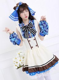 Wholesale Sexy Costumes For Role Play - New Sexy Halloween Love Live Plaid Cosplay Costume Free Size for Halloween Hot Sale Role Play PS017