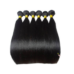 Malaysain Virgin Hair Straight Hair Extension 6 pieces lot 12-30 inches Malaysian Remy Straight Machine Double Weft 100% Human Hair Weft
