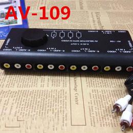 4 en 1 sortie AV109 commutateur vidéo audio Quatre dans un deux sens avec les connecteurs S sélecteur AV à partir de terminal vidéo fournisseurs
