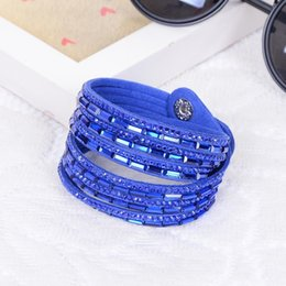 Our company is a Korean company which provide necklace bracelet Leather Bracelet is studded with diamonds Rectangular resin double ring