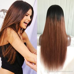 Hot selling 1b 30# Silk Straight full lace human hair wigs brazilian hair front lace wigs 130% density with baby hair wigs for black woman