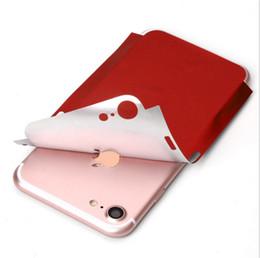Envío libre del iphone de la manzana en Línea-Para el iphone 7 7 más la etiqueta engomada de la piel del corte de la insignia de la manzana etiquetas engomadas delgadas de la película de la contraportada del oro negro rojo chino para el iphone 6 6s 7 más el envío libre