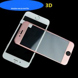 Écrans pourpres en Ligne-Iphone6 fibre de carbone 3D bord doux en plein écran de couleur en acier film Apple 7 violet bleu lumière fabricants de films de protection en gros