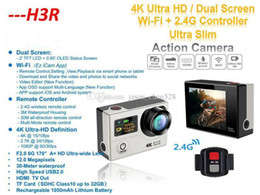 Wholesale Original K Ultra HD H3R WIFI Action Cameras G Remote Controller Mini waterproof Sport Camera Video Camcorders P Lens LCD