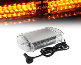 40 LED High Intensity Law Enforcement Emergency Hazard Warning Flashing Car Truck Construction LED Top Roof Mini Bar Strobe Light with Magne