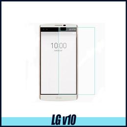 2017 iphone vidrio de alta calidad Para LG v10 Protector de pantalla de cristal templado de alta calidad para Iphone LG STYLE LG v20 0.26mm 2.5D embalaje de papel iphone vidrio de alta calidad outlet