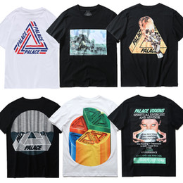 Asian Size 2017 Palace Skateboard High Quality with Real Tag Patchwork T Shirt Men Women Kanye West Brand Clothing Gold Skull Tee TShirts