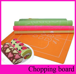 Wholesale 4 Design x30cm Double Side Silicone Mold Pad Painted Roll Cake DIY Dessert Non slip Surface Baking Mat Cake Tool
