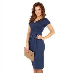 Fashion Maternity Clothes Elegant Pregnancy Evening Dress Cotton Spring  Summer Wear For Pregnant Women Prom Dress Vestidos 1c36ec7e7c44