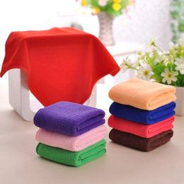 25 25cm Microfiber Cleaning Face Towel Travel Size Kithchen Furniture Car wash Cloth Hand Towel Car Dry pad