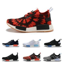 Wholesale 2017 Cheap Best NMD R1 Primeknit PK Running Shoes Top Quality Sports Shoes Brand Athletic Sneaker Fashion Running Sneakers Men Women